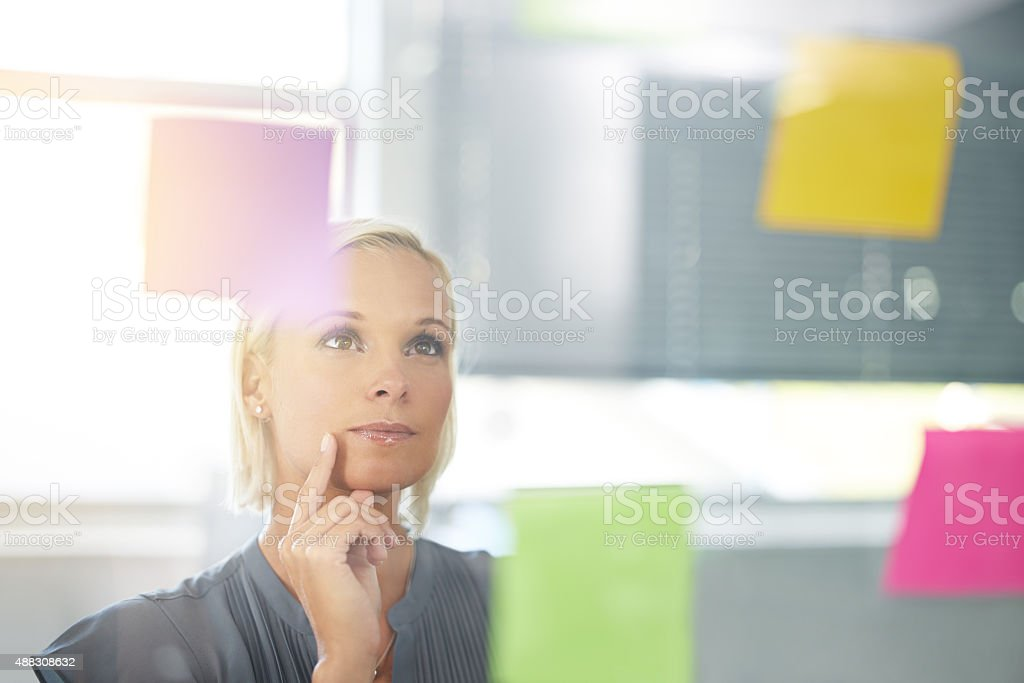 Considering a new strategy stock photo