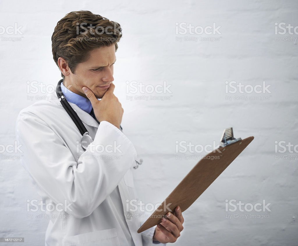 Considering all the medical alternatives royalty-free stock photo