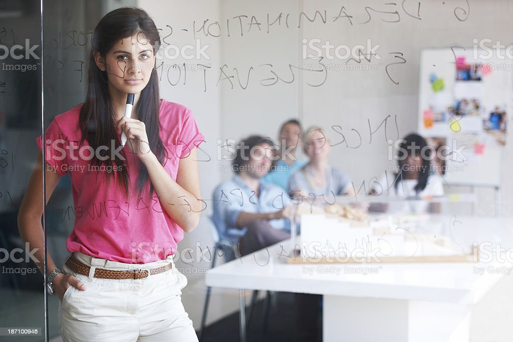Considering creative possibilities and ideas stock photo