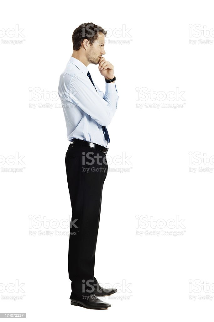 Considering my choices stock photo