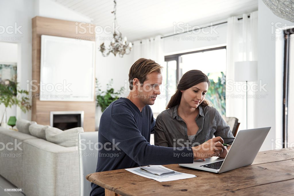 Considering their options for an investment plan stock photo