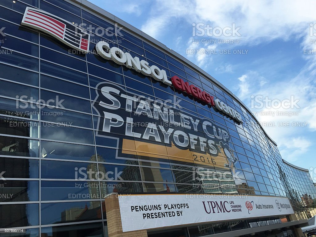 Consol Energy Center in Pittsburgh stock photo