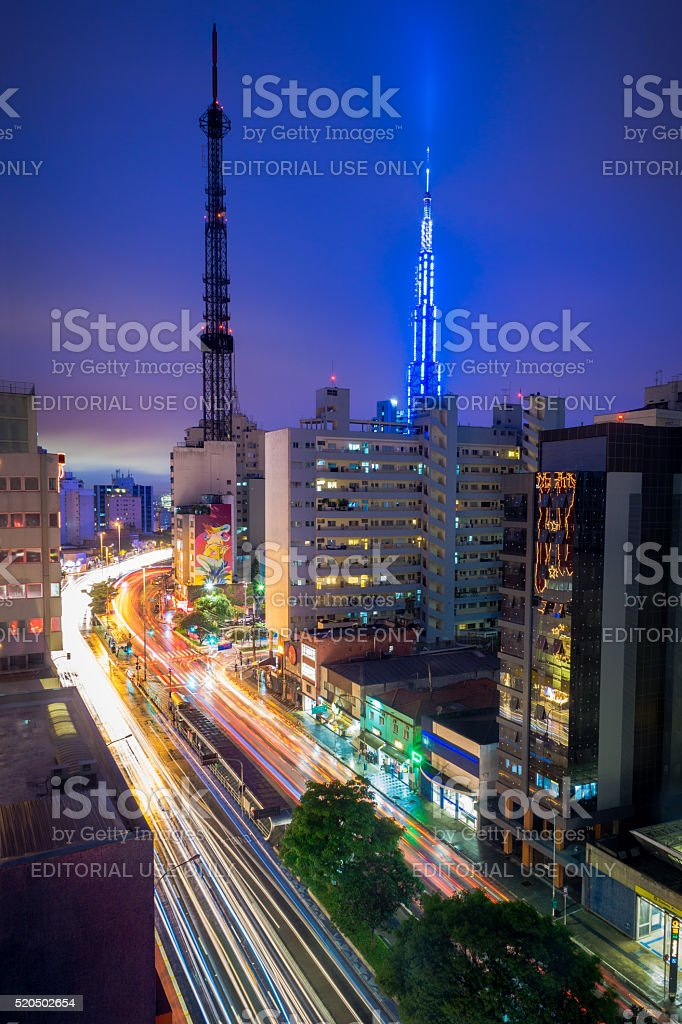 Consolacao in the blue hour stock photo