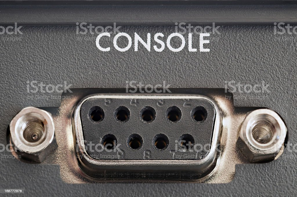 Console Connector stock photo