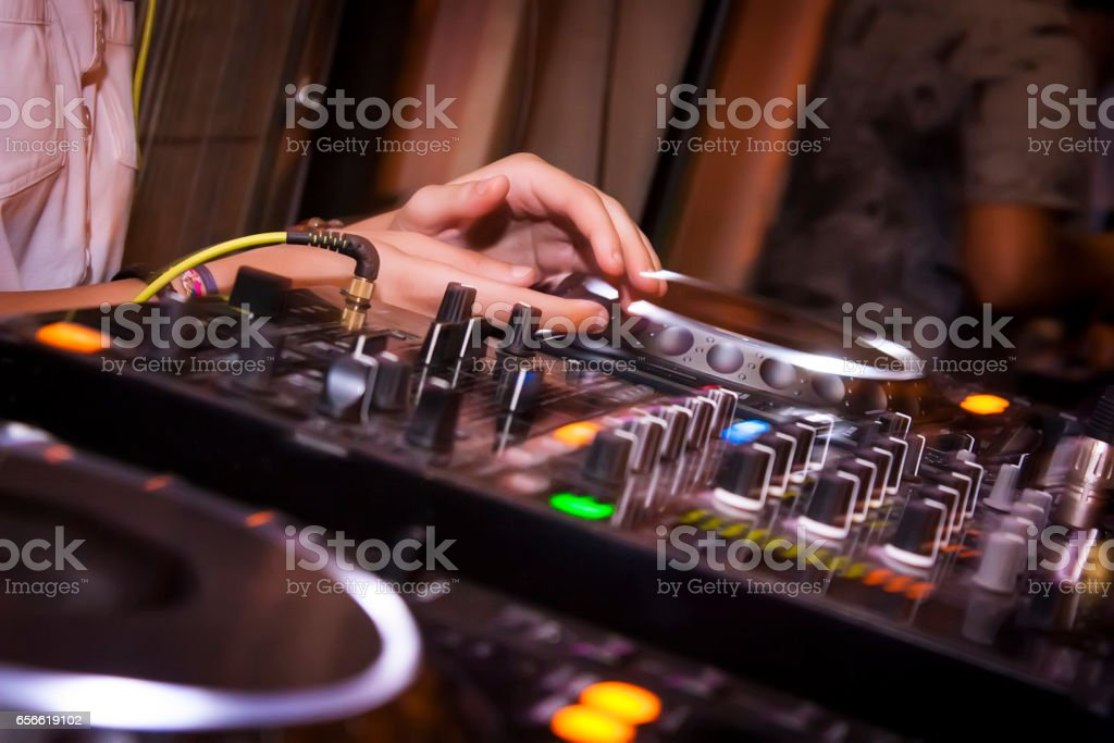 Console dj stock photo