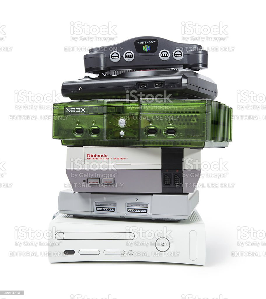 Console Gaming Systems stock photo