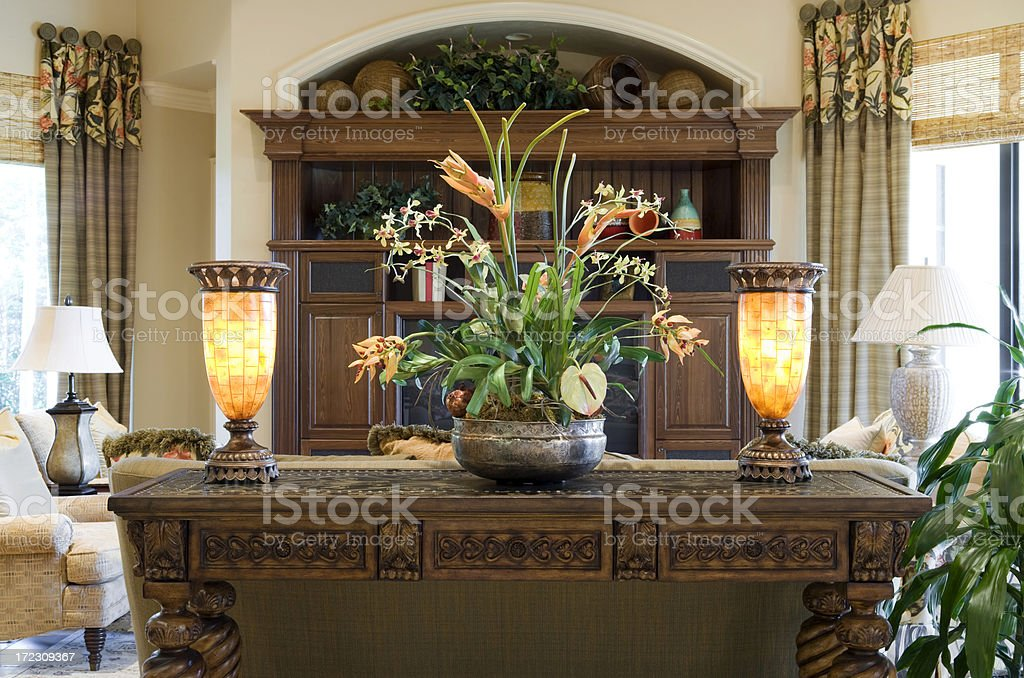 Console Table stock photo