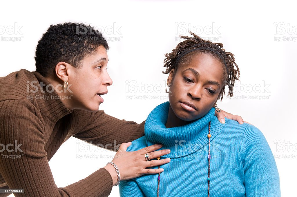 Consoling a Friend royalty-free stock photo