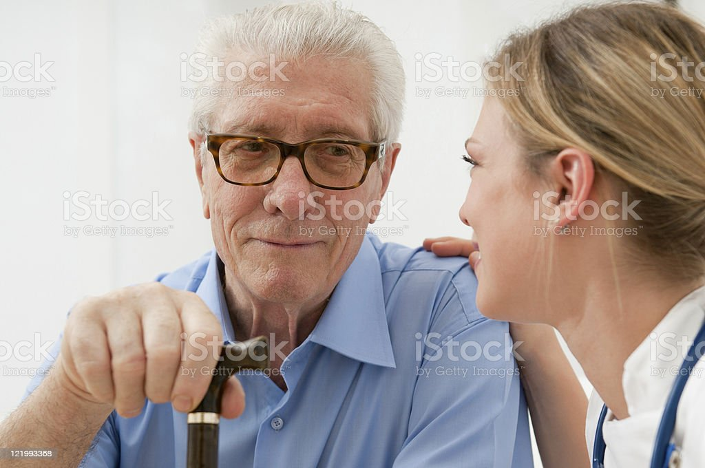 Consoling and care stock photo