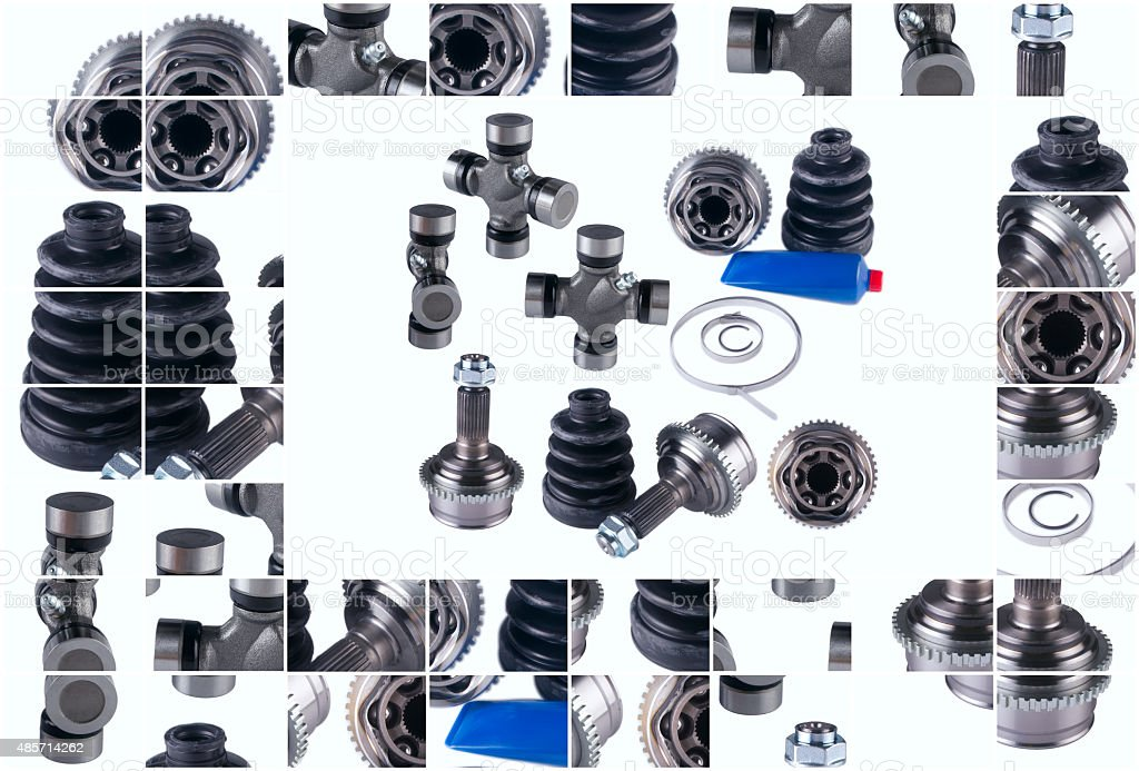 CV Constant Velocity Joints. Part wheel of the car stock photo