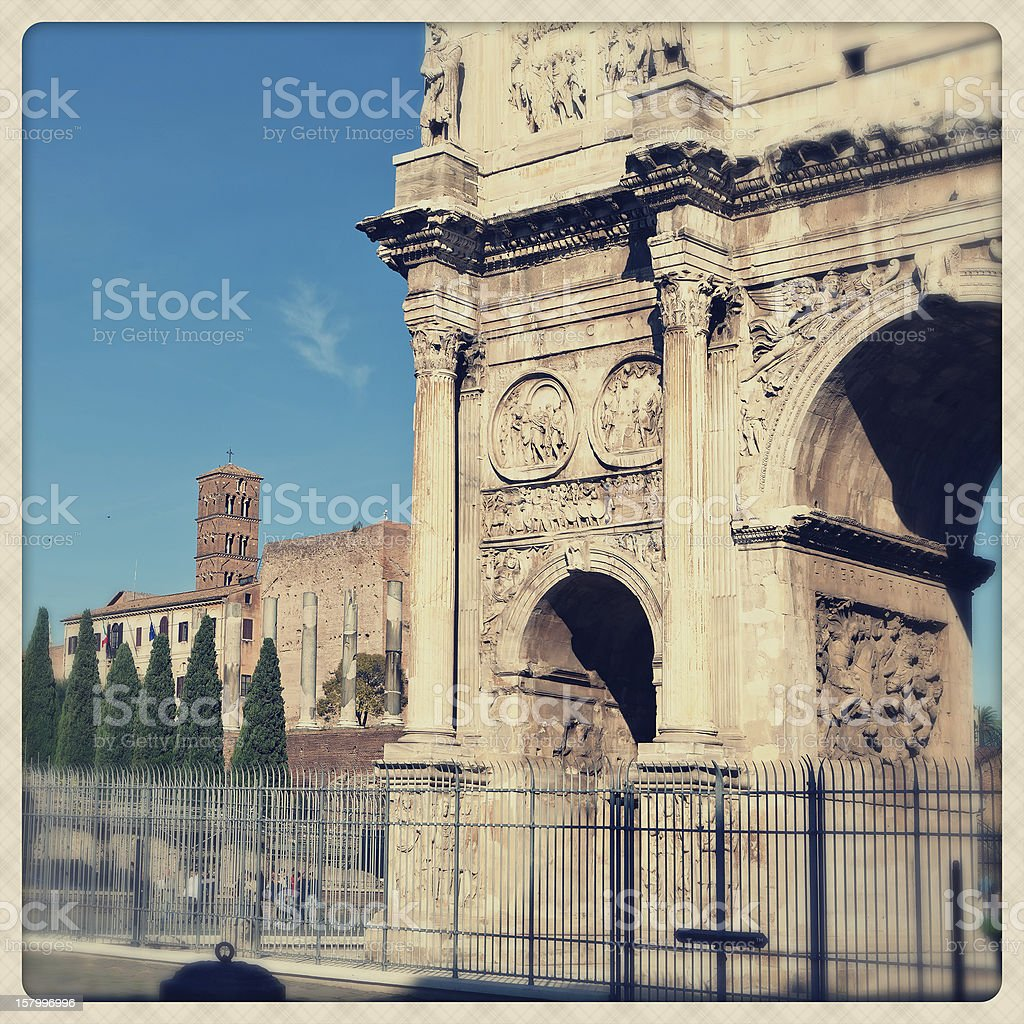 Constantine Arc detail royalty-free stock photo