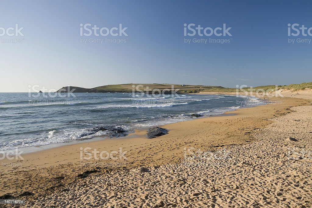 Constantine Bay near Padstow on the coast of Cornwall stock photo