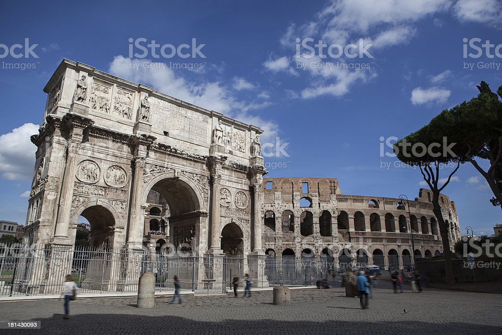 Constantine's arc in Rome, Italy royalty-free stock photo