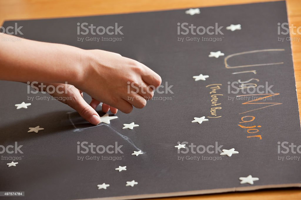 Constellation Science Project stock photo