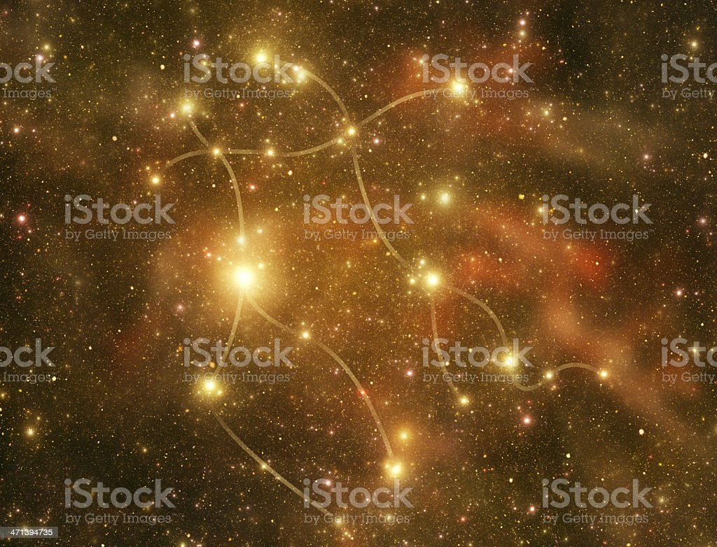 Constellations. Gemini (zodiacal) stock photo