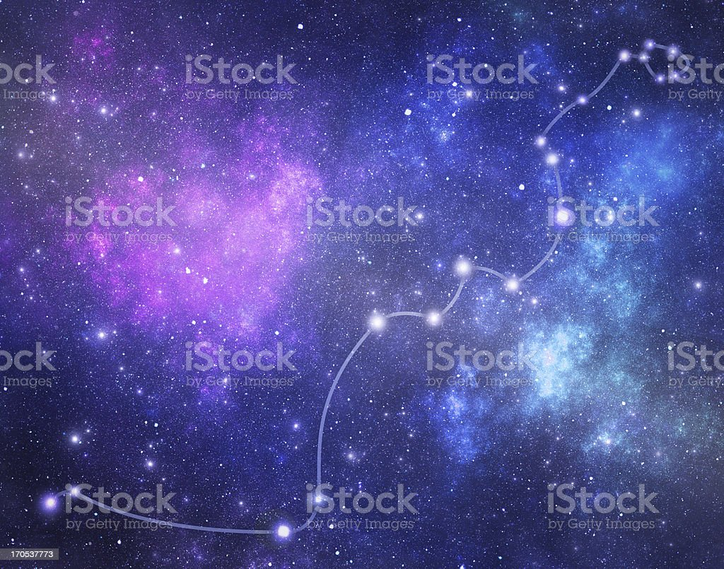 Constellations. Hydrae (Hya) royalty-free stock photo