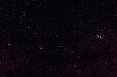 Constellations of Cassiopeia and Cepheus in front of Milky Way