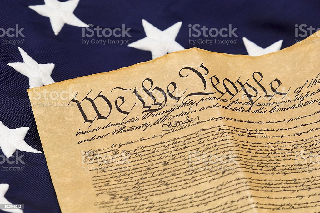 U.S. Constitution and Stars royalty-free stock photo
