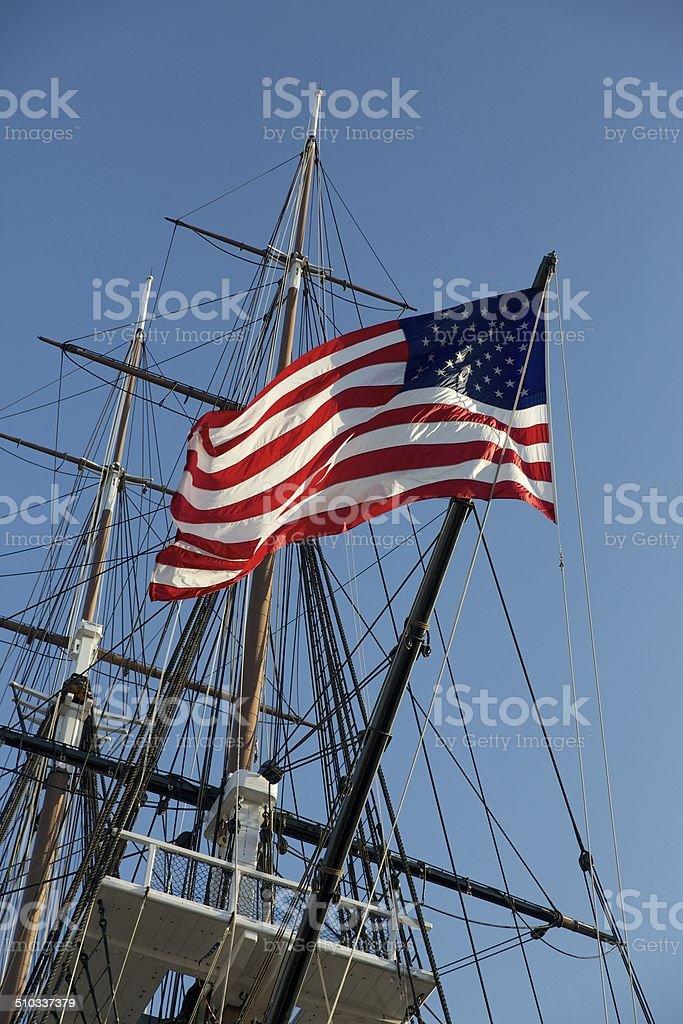 USS Constitution Battleship stock photo