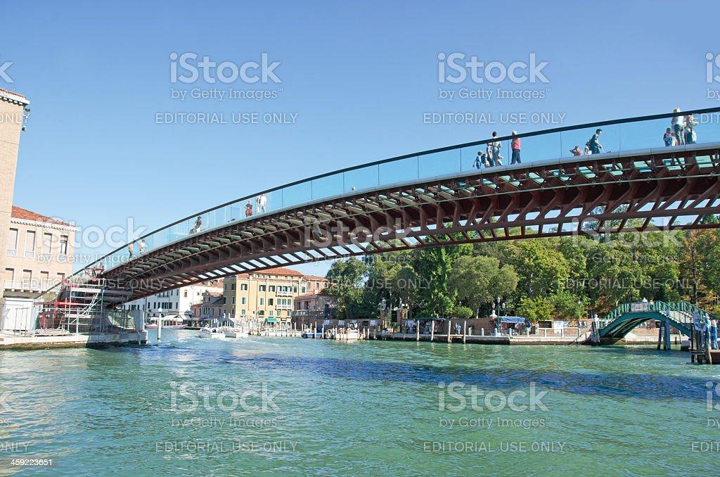 Constitution Bridge in Venice stock photo