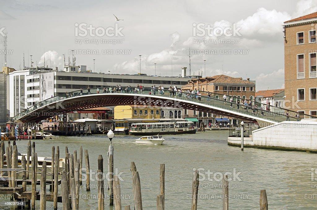 Constitution Bridge, Venice stock photo