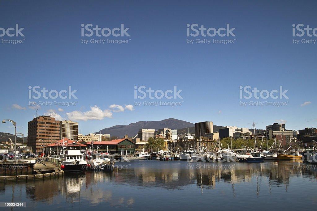 Constitution Dock Tasmania stock photo