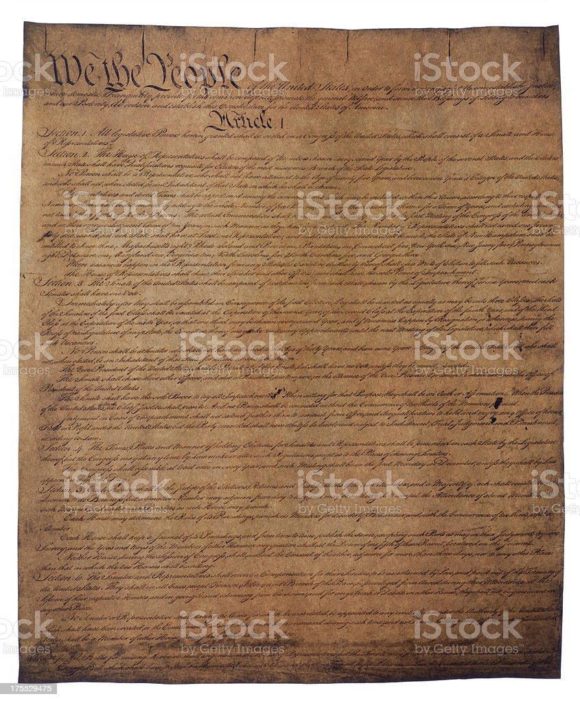 USA Constitution document royalty-free stock photo