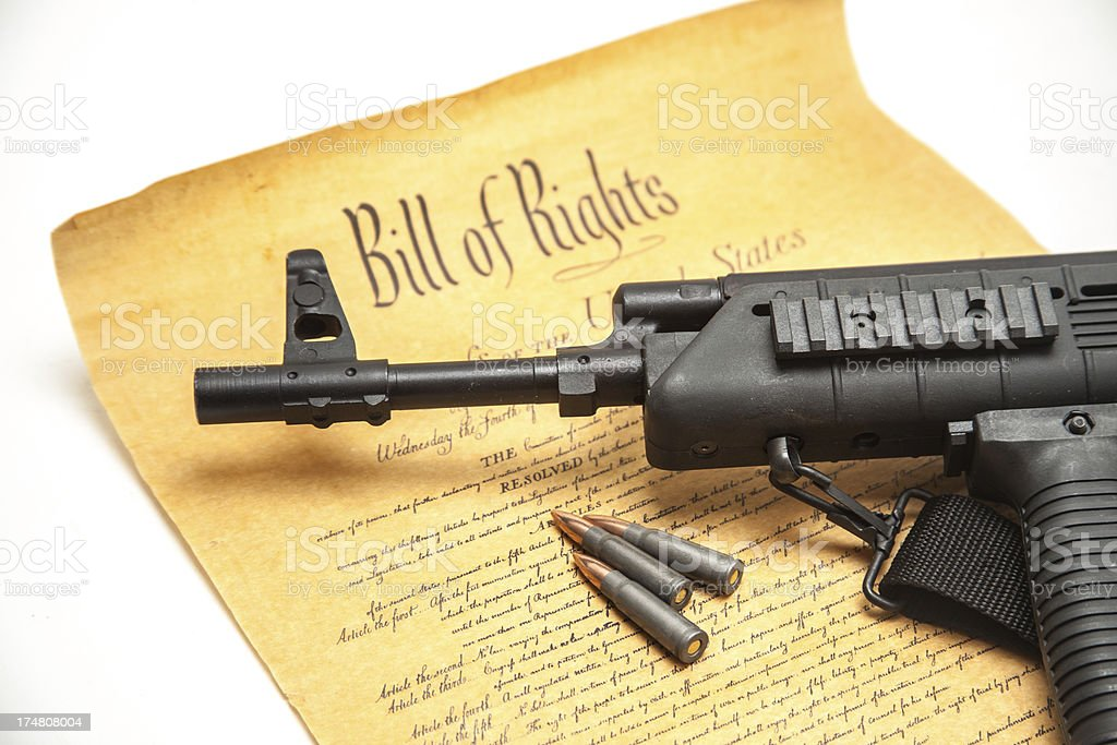 US Constitution Freedom to Bear Arms royalty-free stock photo
