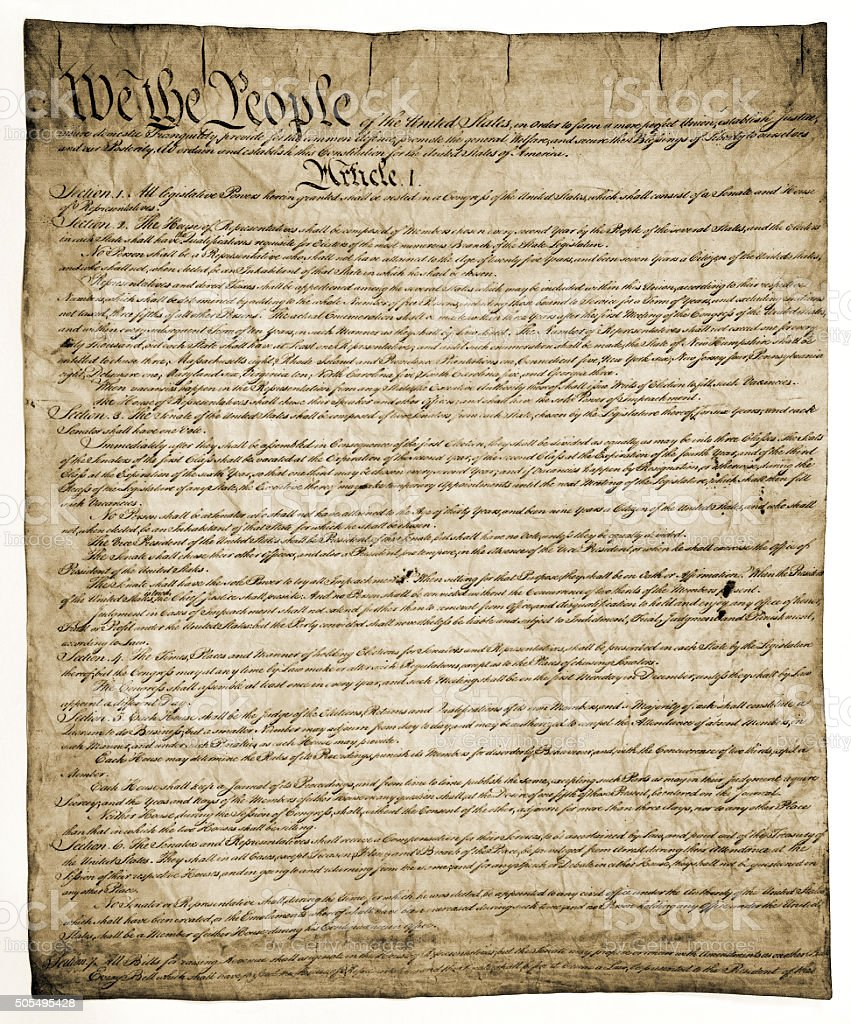 Constitution of United States stock photo