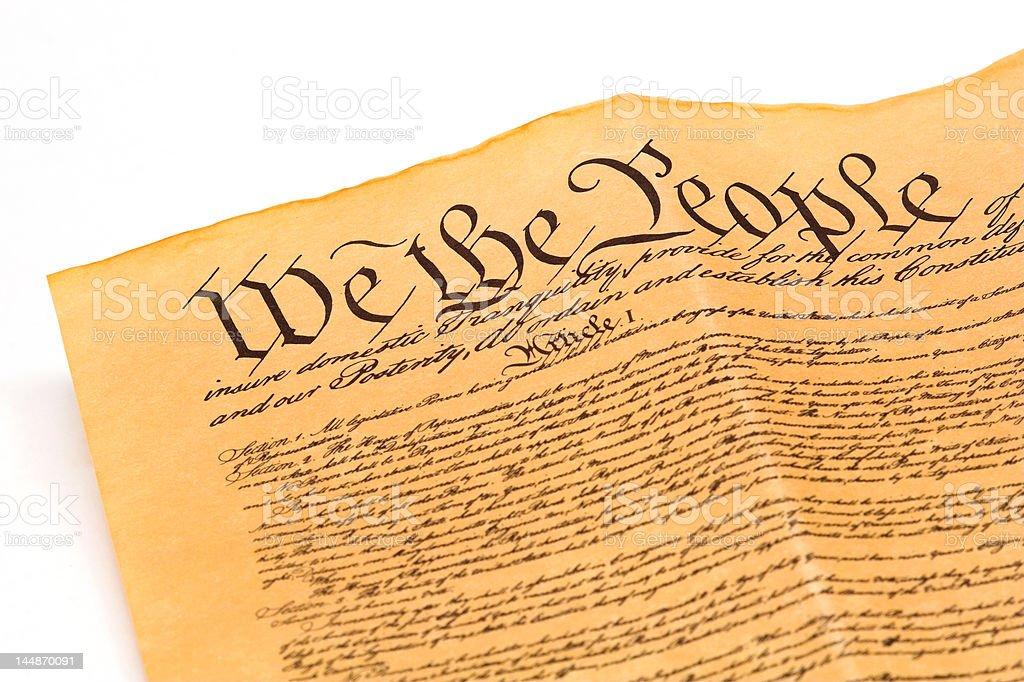 U.S. Constitution stock photo