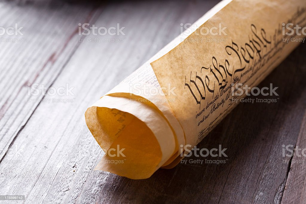 US Constitution royalty-free stock photo