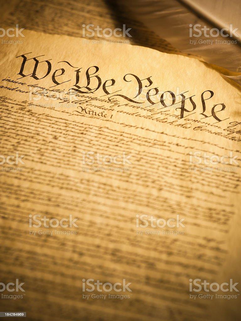 USA Constitution stock photo