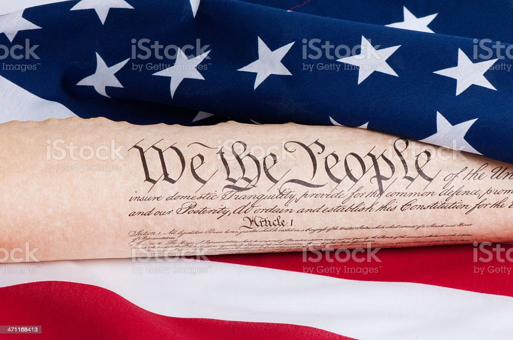 Constitution stock photo