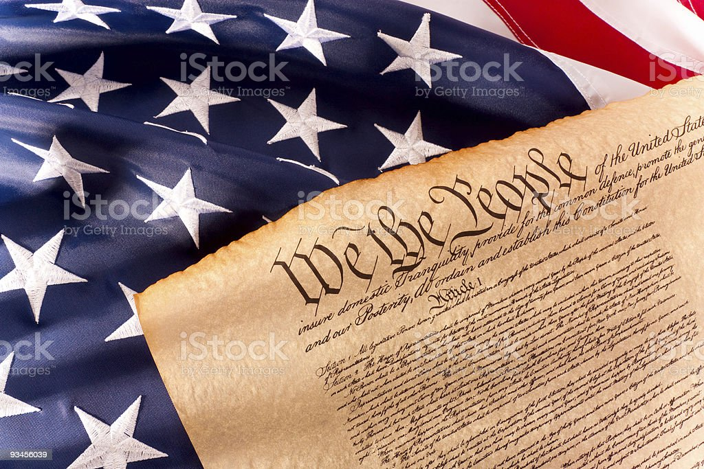 US Constitution - We The People stock photo