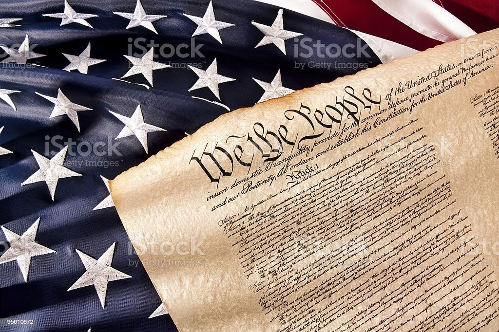US Constitution - We The People royalty-free stock photo