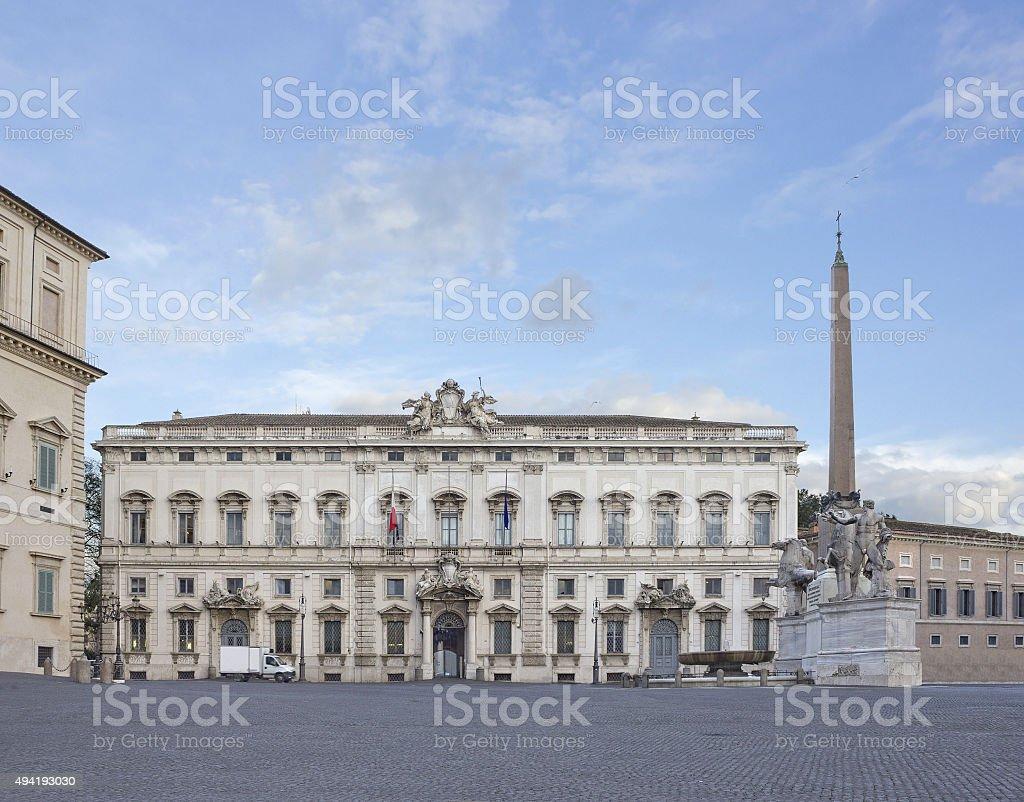 Constitutional Court of the Italian Republic in Rome, Italy stock photo