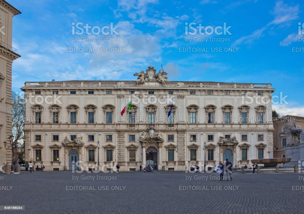Constitutional Court of the Italian Republic in Rome, Italy stock photo