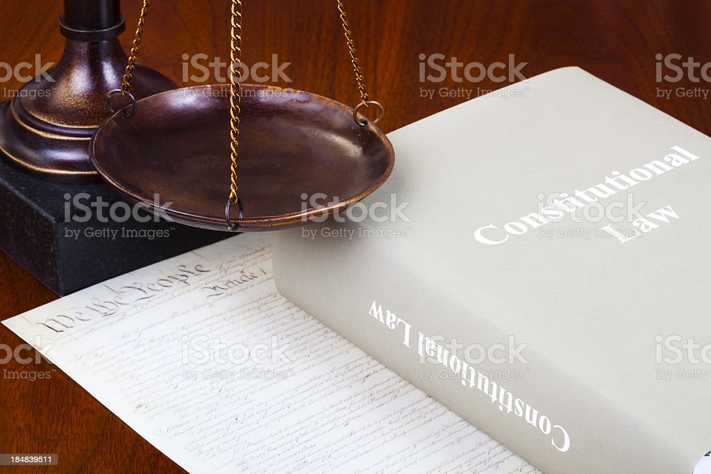 Constitutional law royalty-free stock photo