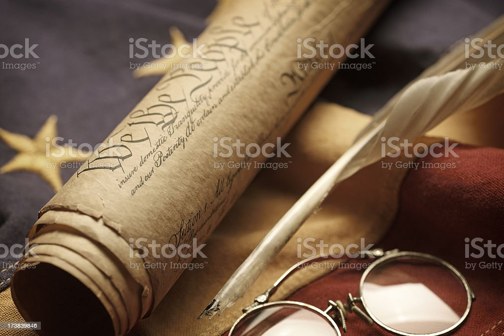 U.S. Constitutuion royalty-free stock photo