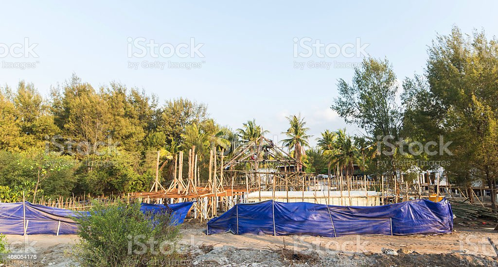 Construct bungalow stock photo