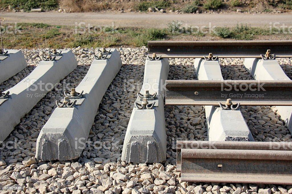 construct new railway stock photo