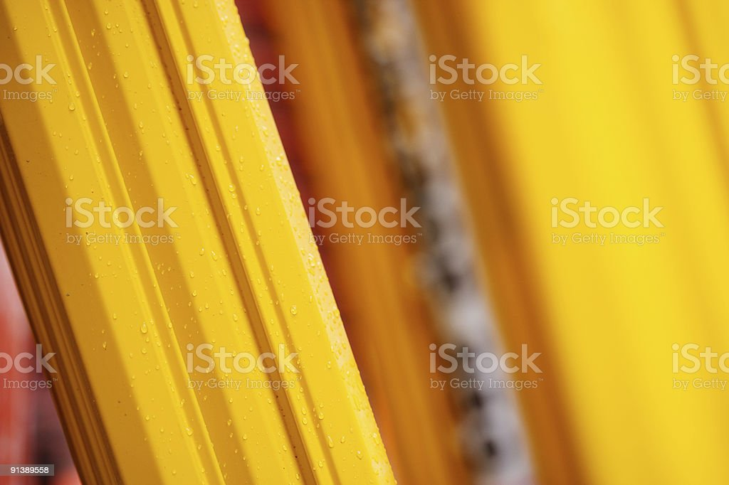 Construction abstract. Yellow Support pillar. stock photo