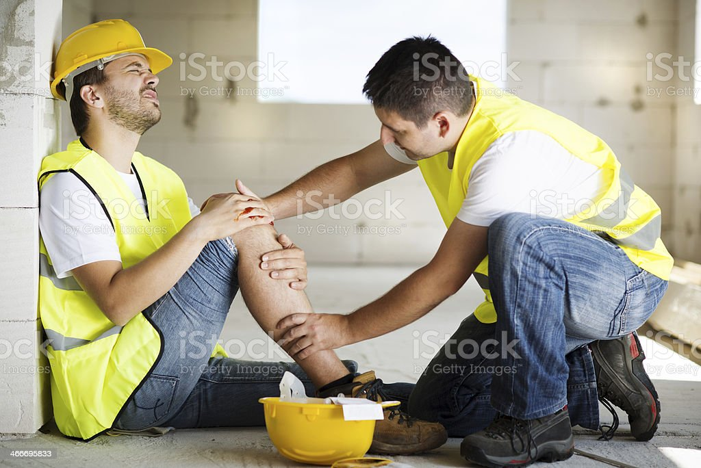 Construction accident royalty-free stock photo