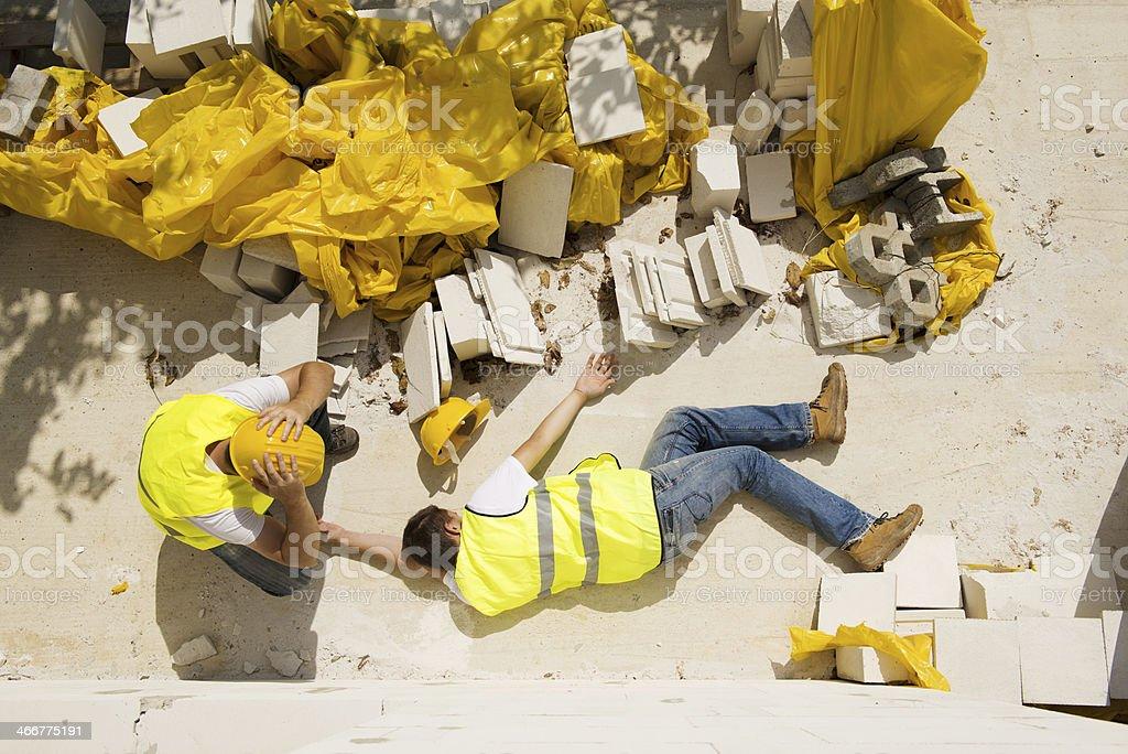 Construction accident stock photo