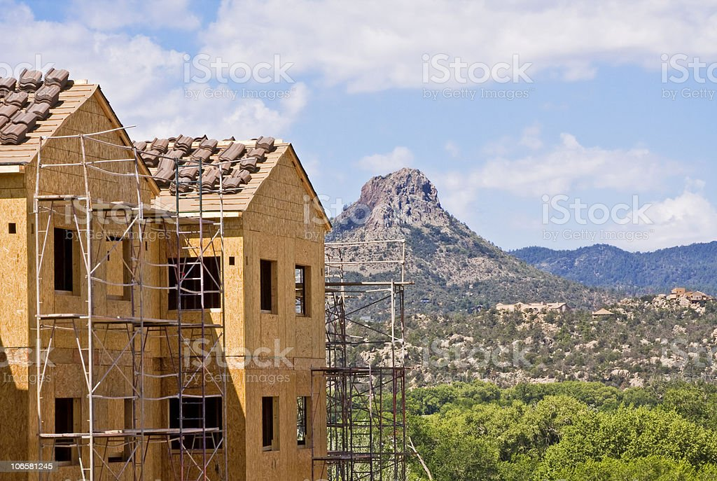 Construction and Butte stock photo