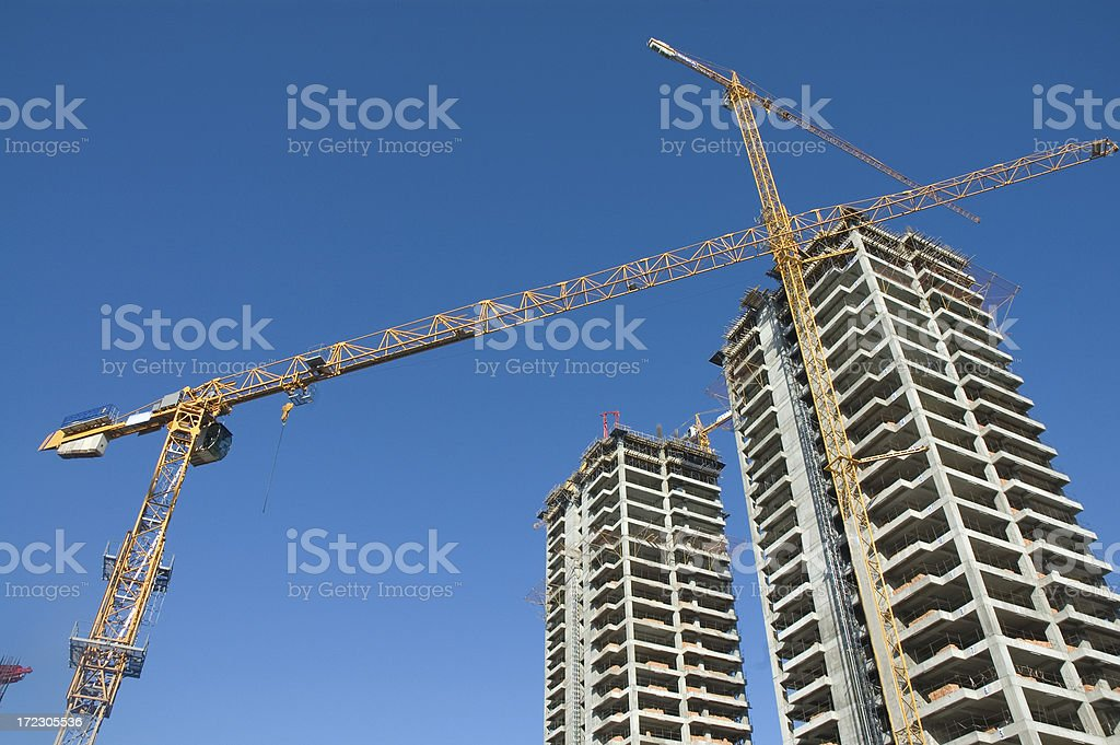 construction and crane royalty-free stock photo