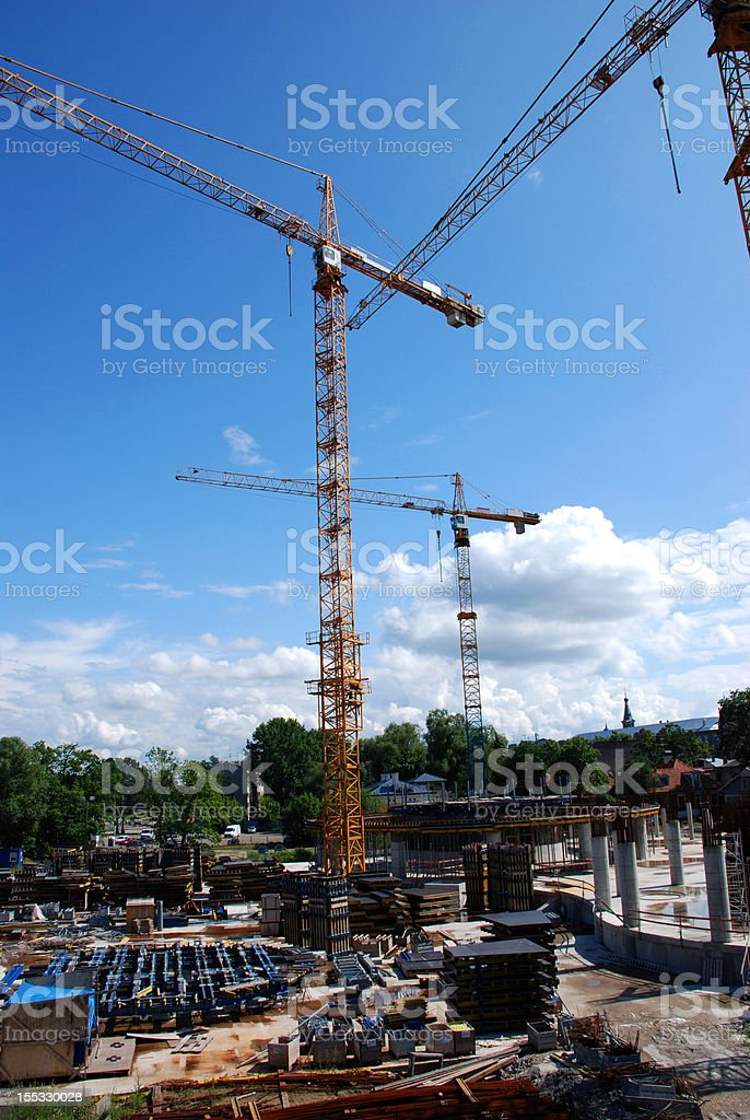 Construction and Installation Work royalty-free stock photo