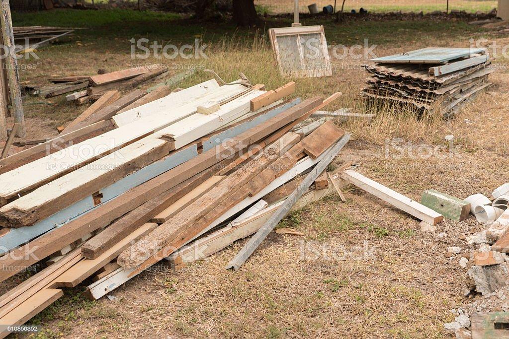 Construction and renovation rubbish stock photo
