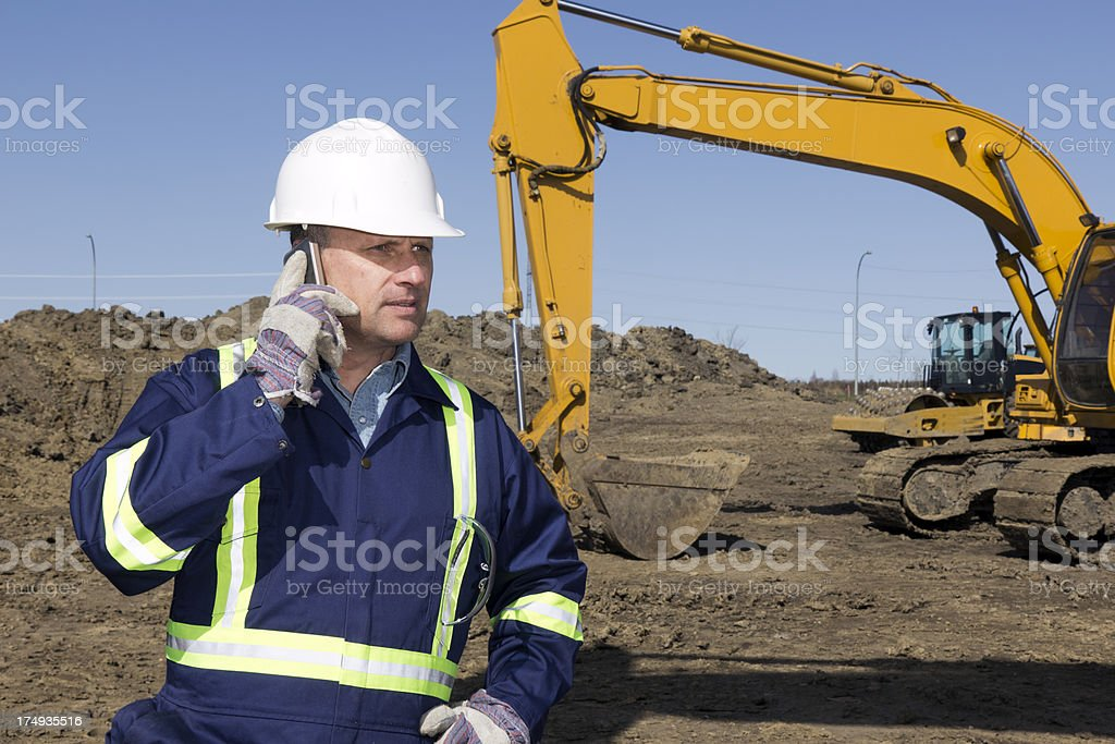 Construction and Smartphone royalty-free stock photo