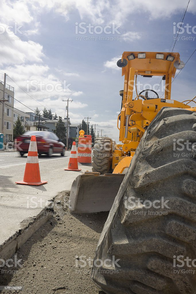 Construction and Traffic royalty-free stock photo